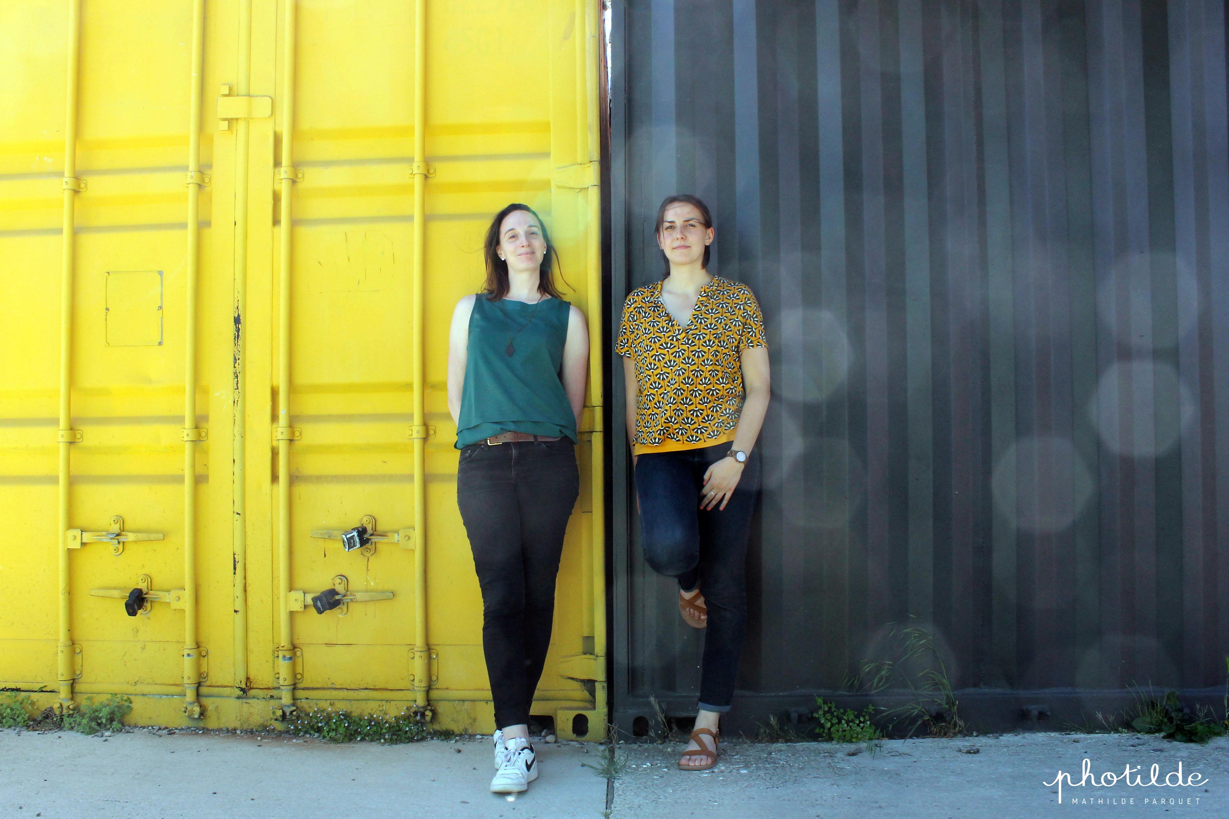 Les co-fondatrices : Lucile VIGNERON et Coline VINÇON, architectes HMONP