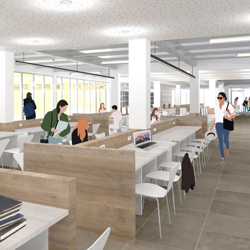 Bibliothèque universitaire provisoire de l'Université Lumière Lyon 2 - Campus Porte des Alpes