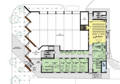 Plan de niveau - Maison des Sports Campus Porte des Alpes