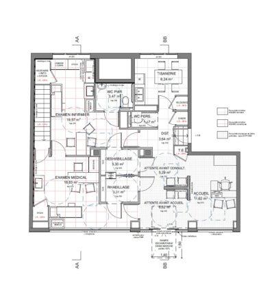 Plan d'aménagement - CPAM Vienne