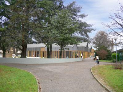 Entrée secondaire - École maternelle Décines Charpieu