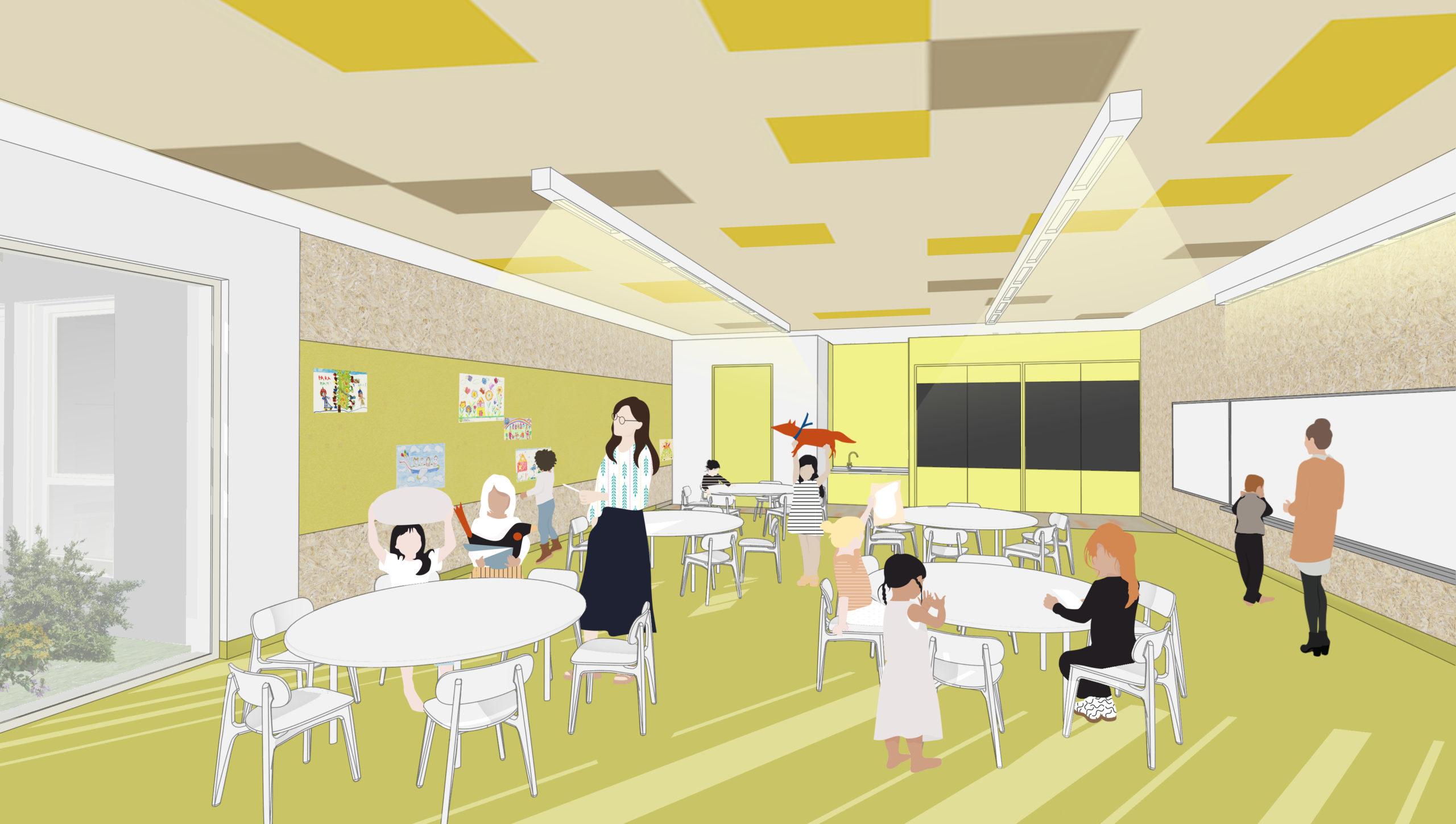 Salle de classe - École maternelle Décines Charpieu