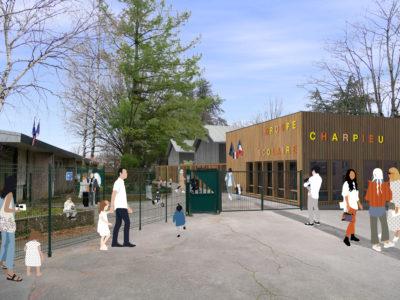 Entrée principale - École maternelle Décines Charpieu